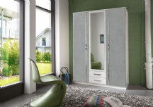 Juno 3 Door Mirrored Roble with Drawers